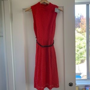 Hi There Anthropologie Red Dress NWT